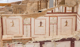 图画在大阳台议院,以弗所古城里 库存照片