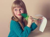 图画女孩一点 免版税库存照片
