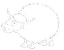 牦牛的彩图Y 免版税库存照片