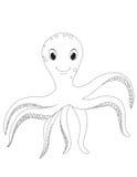 章鱼的彩图O 免版税库存照片