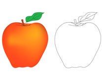 苹果计算机的彩图A 免版税图库摄影