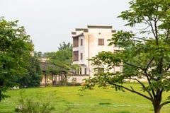 图画家庭房子例证农村草图村庄 库存图片
