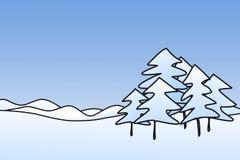 图画现有量横向结构树 免版税库存图片