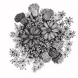 图画要素自然徒手画风格化 库存图片