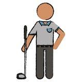 图画高尔夫球运动员制服 库存例证