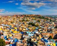 图0f乔德普尔城,印度 免版税库存图片