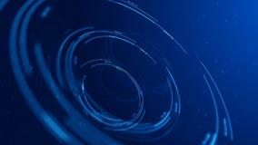 圆全息图接口圈,蓝色hud抽象在焦点 股票视频