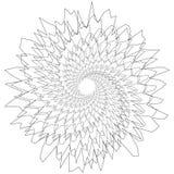 圆几何主题 抽象灰色极谱操作艺术元素 向量例证
