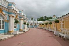 圆周(翼)凯瑟琳宫殿 ST 彼得斯堡, TSARSKOYE SELO,俄罗斯 库存照片