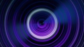 圆声波 搏动从中心的圆线的抽象动画 使成环的动画单色 向量例证
