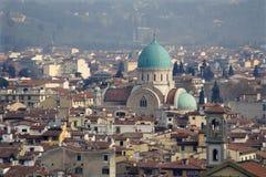 圆屋顶佛罗伦萨犹太教堂 图库摄影