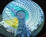 圆屋顶迪拜购物中心wafi 库存照片