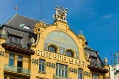圆山大饭店欧罗巴在布拉格的中心 免版税库存照片