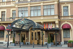 圆山大饭店欧洲在圣彼得堡 免版税库存图片