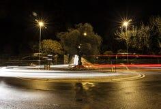 圆形交通路口 免版税图库摄影