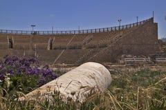 圆形剧场凯瑟里雅 以色列的地中海海岸 免版税库存图片