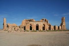圆形剧场利比亚sabratha 免版税库存照片