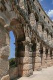 圆形剧场古老克罗地亚目的地著名普拉罗马游人 库存图片
