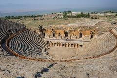 圆形剧场古老hierapolis 库存照片
