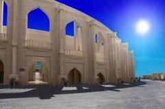 圆形剧场在卡塔拉文化村庄,多哈卡塔尔 图库摄影