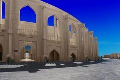 圆形剧场在卡塔拉文化村庄,多哈卡塔尔 库存图片