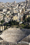 圆形剧场在阿曼,约旦 免版税库存图片