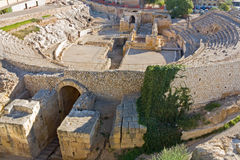 圆形剧场罗马废墟西班牙 库存图片