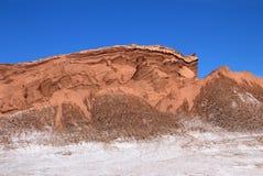 圆形剧场,瓦尔de la月/月球,月亮的谷,阿塔卡马沙漠智利 图库摄影