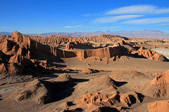 圆形剧场,瓦尔de la月/月球,月亮的谷,阿塔卡马沙漠智利 库存照片