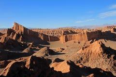 圆形剧场,瓦尔de la月/月球,月亮的谷,阿塔卡马沙漠智利 免版税库存图片