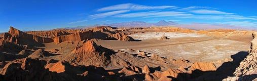 圆形剧场,瓦尔de la月/月球,月亮的谷,阿塔卡马沙漠智利 库存图片