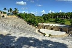 圆形剧场, Altos de Chavon,拉罗马纳,多米尼加共和国 库存照片