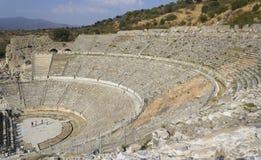 圆形剧场(大剧场)在以弗所(Efes) 库存图片
