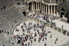 圆形剧场bosra东部中间罗马叙利亚 免版税库存照片
