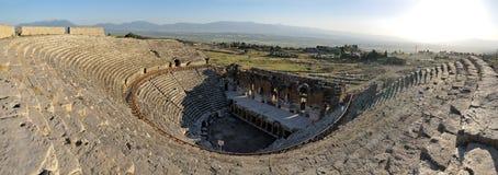 圆形剧场hierapolis pamukkale 库存图片