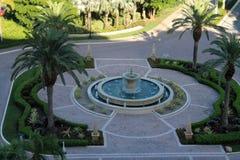 圆形建筑南佛罗里达勒克斯的旅馆 免版税图库摄影