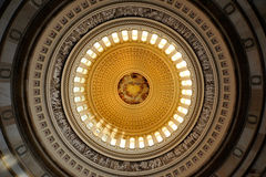 圆形建筑国会大厦的dc我们华盛顿 库存照片