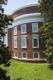 圆形建筑的侧视图 免版税库存照片