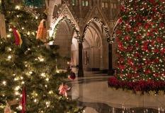 圆形建筑的圣诞节 图库摄影