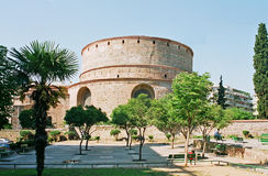 圆形建筑的希腊 免版税库存图片
