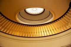 圆形建筑的阳台 免版税图库摄影