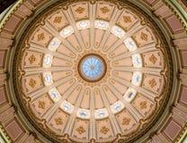 圆形建筑,加利福尼亚状态国会大厦,萨加门多 免版税库存图片