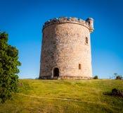 圆形状,小,石修造,在乡下土地剧情的城堡  库存图片