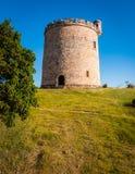 圆形状,小,石修造,在乡下土地剧情的城堡  图库摄影