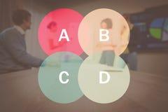 圆形统计图表的综合图象 库存照片