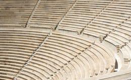 圆形露天剧场古老老楼梯跨步石头 免版税库存照片