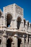 圆形露天剧场在阿尔勒,法国 库存照片