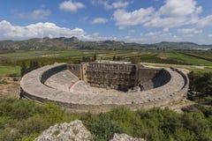 圆形露天剧场在Aspendos,土耳其 图库摄影