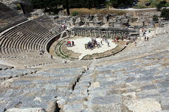 圆形露天剧场的里面看法在以弗所-土耳其 免版税图库摄影