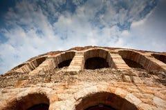 圆形露天剧场竞技场在维罗纳,意大利 库存图片